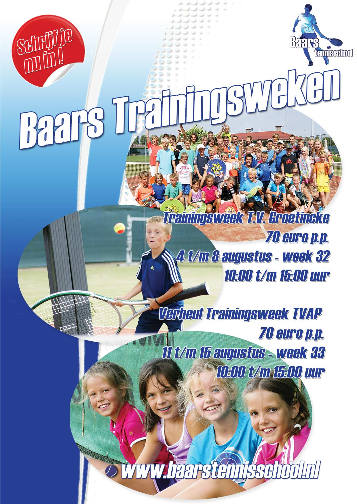 Flyer Baars Trainingsweken 2014