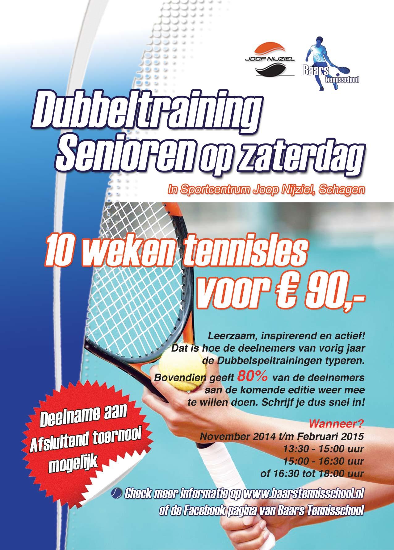 Flyer Dubbelspeltraining Senioren 2014