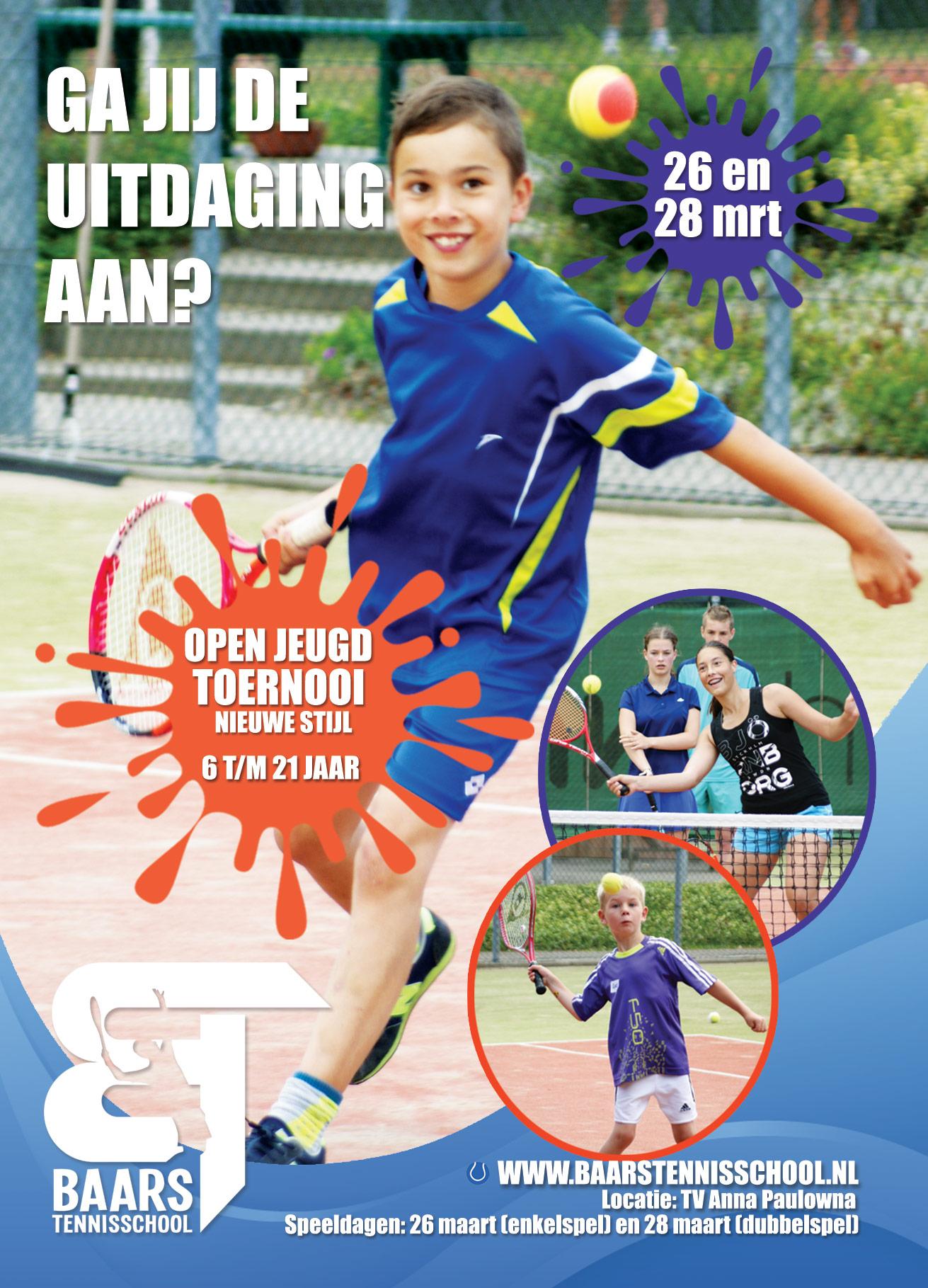 Flyer Open Toernooi Baars Tennisschool 2016