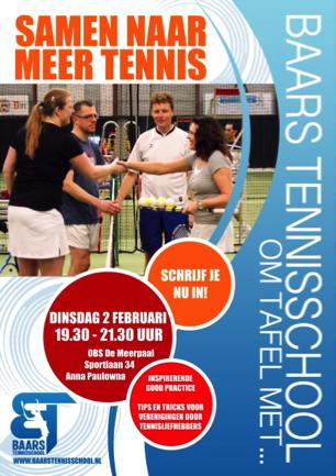 Flyer Om Tafel Met Baars Tennisschool 2016