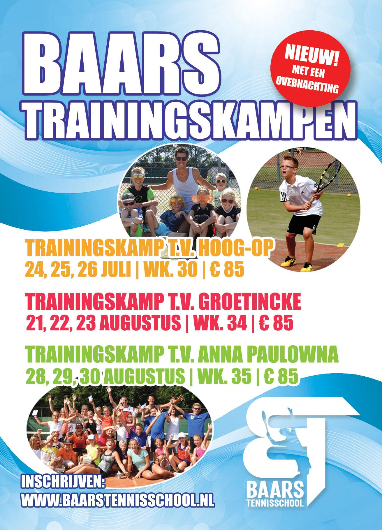 Baars Trainingskampen flyer 2017